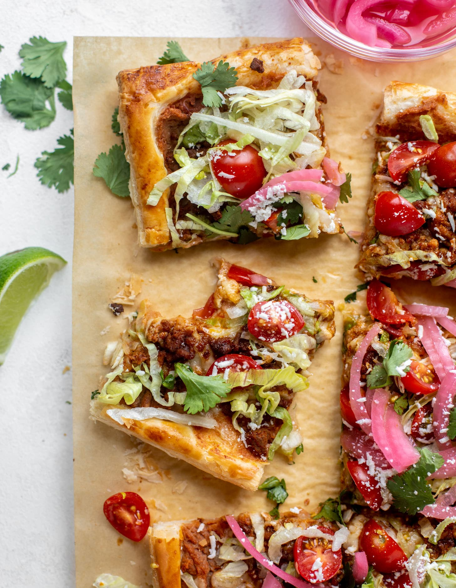 taco puff pastry pizza
