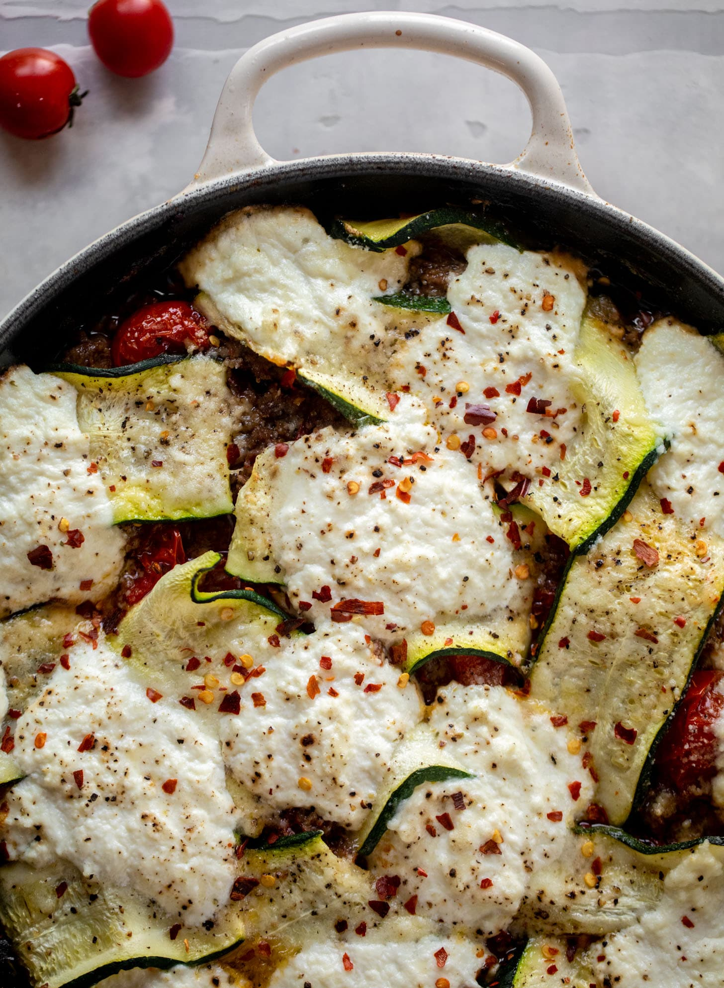 zucchini skillet lasagna