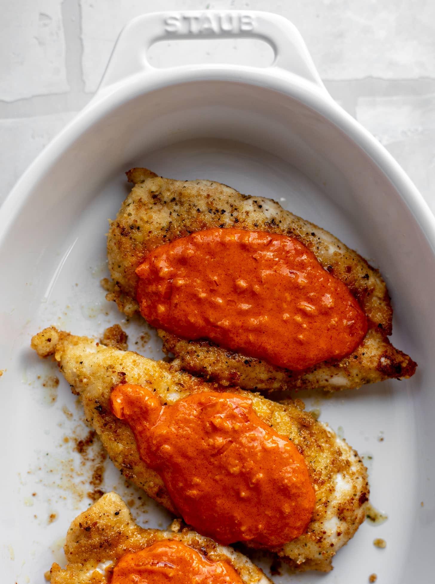crispy chicken with vodka sauce