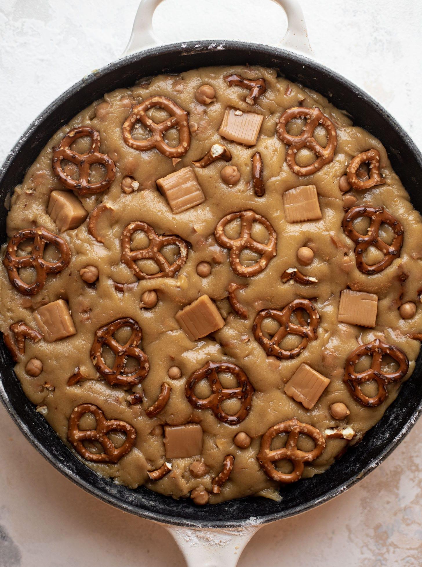 caramel pretzel cookie dough