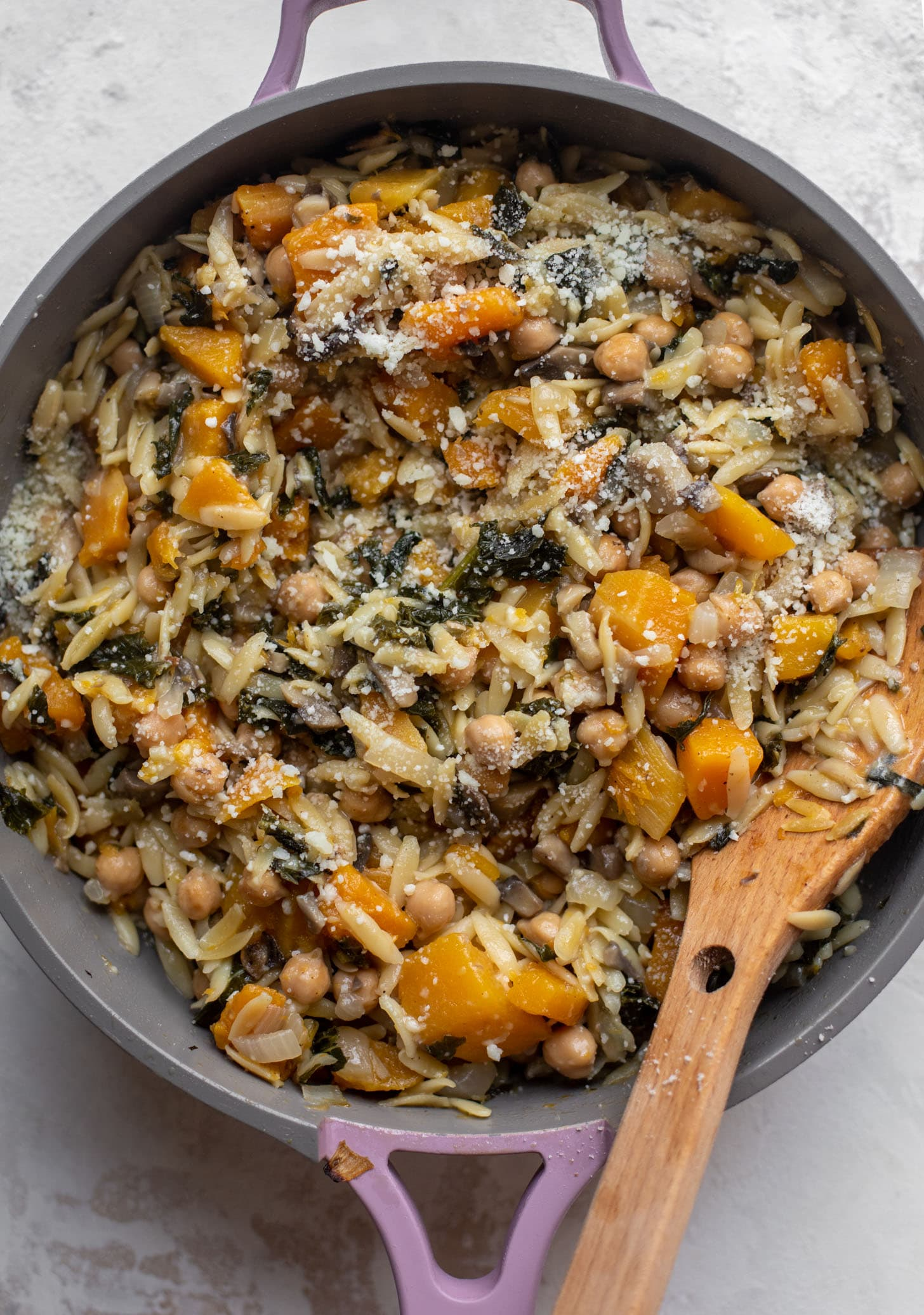 one pot fall vegetable orzo